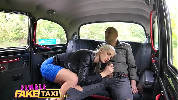 Black, Female orgasm, Fake taxi