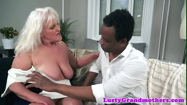 Saggy mature, Grandma, Granny interracial